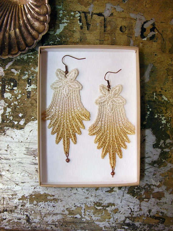 lace earrings -IRINA-