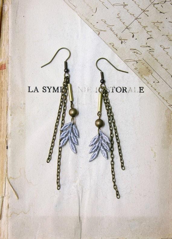lace earrings -AMERLA-