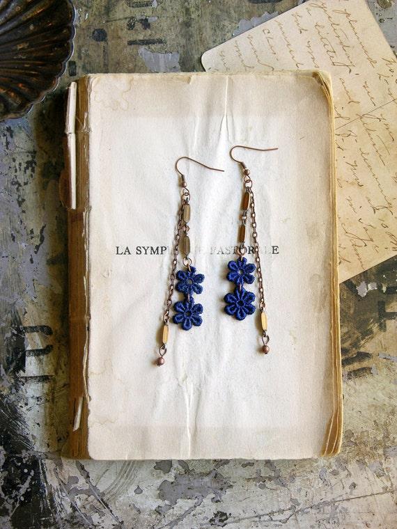 lace earrings -JOETTA-