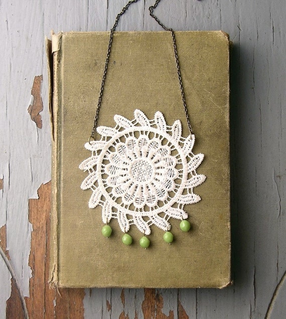 sun and flower lace medallion