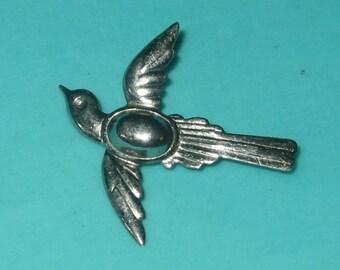 Vintage FAB Sterling Silver Flying Bird Pin Brooch