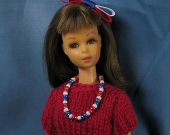 Francie July Fourth Sweater and Skirt Set