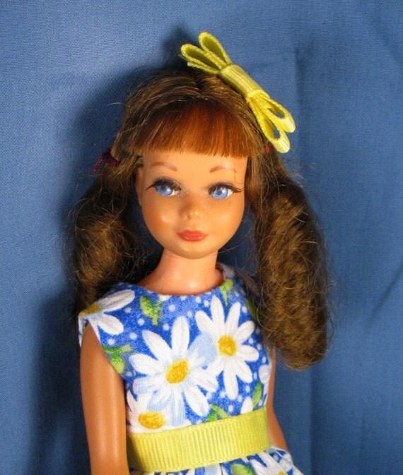 Skipper Blue Daisy Print Dress and Petticoat