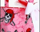 Halloween Pink Pirate Trick or Treat Basket