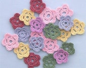 20 Handmade Crochet Flowers-Small for Scrapbooking\/ Paper Piecing\/ Crafts by Lily