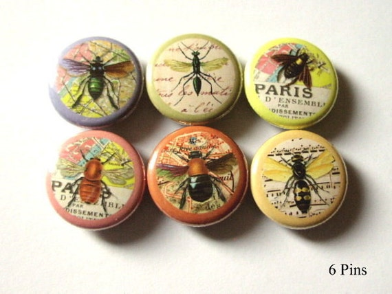 Insects Bugs PINS Pinbacks Badges nature bee accessories buttons bugs nature flair party favors stocking stuffers magnet dragonfly gifts