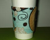 Eco-smart Coffee Sleeve in Coffee bean fabric