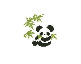 Panda Cross Stitch Chart Pattern PDF
