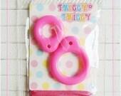 Twiggy Twiggy Blythe Pull Ring - Deep Pink - PR01-06