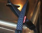 Twiggy-Twiggy Camera Strap Black Plaid Leather