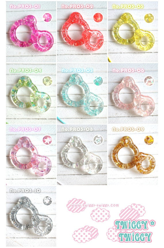Twiggy Twiggy Glitter Pull Ring  Full 10 Colors Package