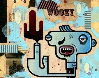Woozy (Framed)
