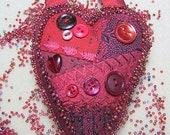 Red Hot Heart Door Hanger