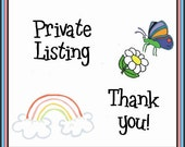Private Listing for ME4U1123 ONLY