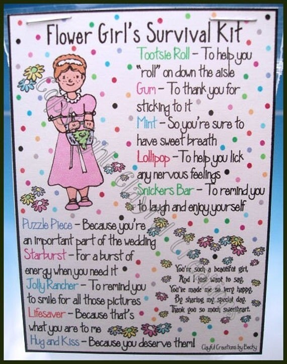 FLOWER GIRL's Survival Kit - Becky's This and That