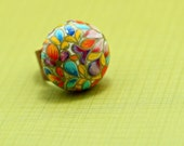 Spring Flowers adjustable ring by Hart's Desire