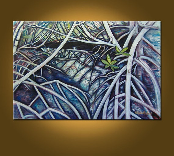 Florida Mangroves -- 24 x 36 original oil painting