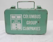 Vintage Metal First Aid Kit--Columbia Gas System