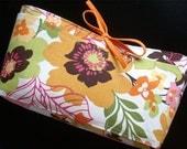 diaper organizer - the LINNIE diaper clutch - tropical autumn