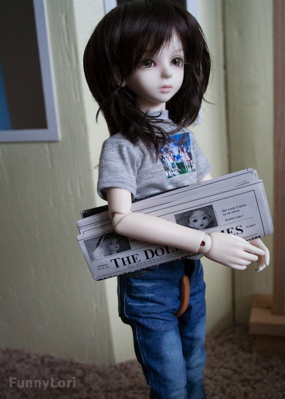 The Dolly Times Newspaper prop for BJD and similar dolls