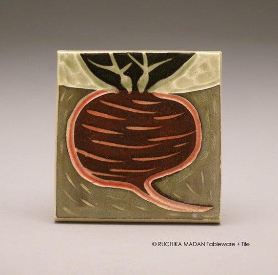 Beet Underground- 3x3 tile- Ruchika Madan
