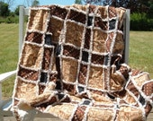 Big and tall lap robe earth tones Seeds Rag Quilt