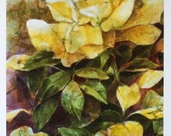 Giclee Print - Limited Edition - Floral Painting - Painting of Rose - Yellow Rose - Home Decor - Rose Painting - Wall Art - Housewarming Gi