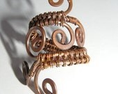 Swirling Copper Ring -Adjustable Ring - Reiki Infused