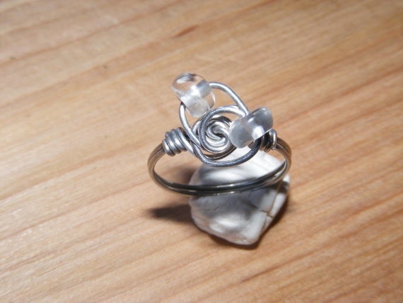 Clear Thoughts - Clear Quartz Stainless Steel Ring - Reiki Infused