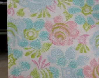 "Vintage Fabric 60s - Cupcake Sherbet Floral - 37"" Wide by 4 Yards long"