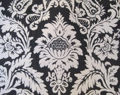 Lee Jofa Giara Screenprint Fabric Black and White Medallion Remnant Square Pillows