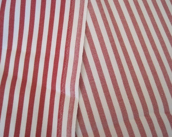 Fabric Home Decor Decorator Red and White Stripe Woven 1 Yard x 60