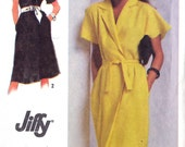 Wrap Dress Pattern - Simplicity 9331 - Kimono Sleeves / Tie Belt - Vintage 1970s - Size 16