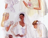Wedding Headpiece / Veil Pattern - Butterick 5972 - Bridal Accessories - Blusher - Adult / Child Sizes