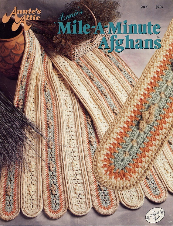 Crochet Pattern - Annies Attic Mile A Minute Afghans - 6 Designs ...