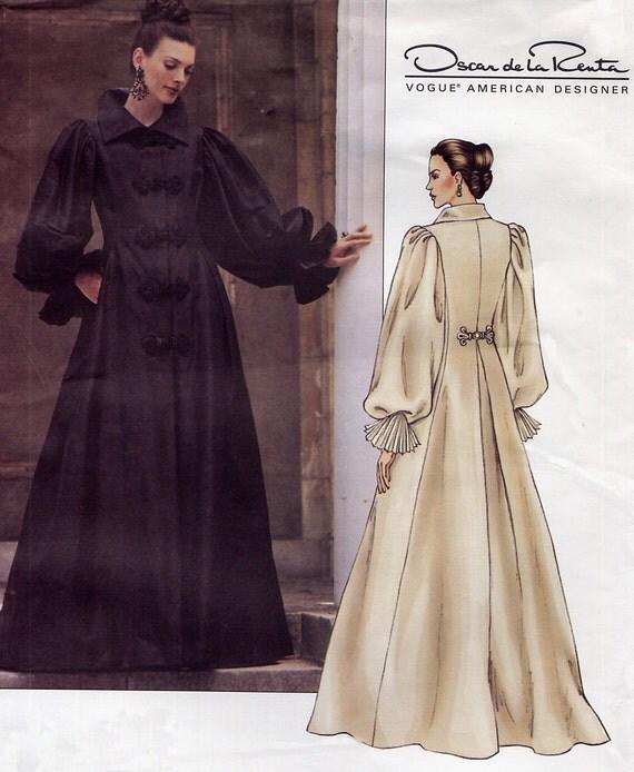 designer steampunk dress pattern vogue 2714 oscar de la