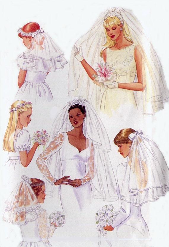 Wedding Headpiece / Veil Pattern - Butterick 5972 - Bridal Accessories - Blusher - Adult / Child Sizes
