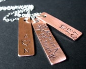Multiple Tag Cluster Necklace - any three tags on sterling chain