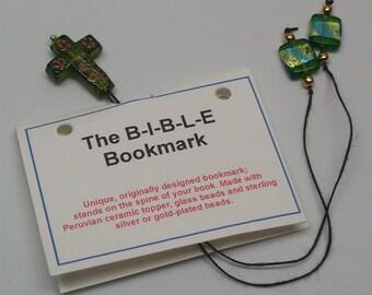 Green Cross Bible Bookmark