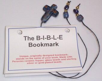 Blue Cross Bible Bookmark