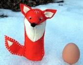 Waldorf Felt Finger Puppet Fox