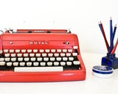 Rare 1950s Red Royal Typewriter - Great Working Condition