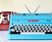 Restored Turquoise 1950s Royal Typewriter