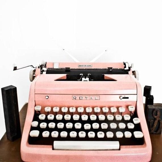Rare 1950s Pink Royal Typewriter - Perfect Working Condition