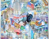 Buffalo New York, an Artistic Collage
