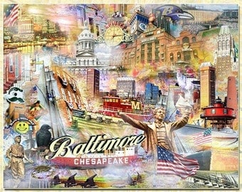 Baltimore an Artistic Collage