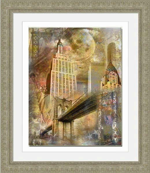 Mooning Over New Missoni: Moon Over New York Artistic Collage