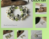 TUTORIAL Bead woven Lily-of-the-Valley flower jewelry