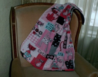 Pinkie Cats Throw or Blanket