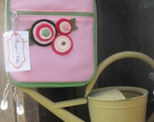 Re-usable Insulated Lunch Snack Tote - Pink Canvas